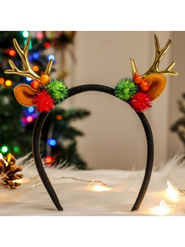 Antlers Headbands Plush Decoration Dress-up Supplies Festive Props Christmas Gifts