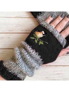 Christmas Casual Animal Winter Autumn Winter Warm Stitching Embroidery Gloves