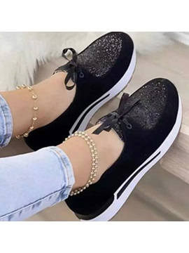 Lace-Up Slip-On Round Toe Casual Thin Shoes
