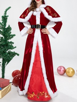 Fashion Color Block Long Sleeve Fall Holiday Women's Costumes