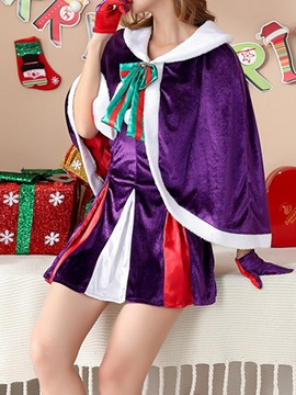 Bowknot Fashion Color Block Holiday Fall Women's Costumes