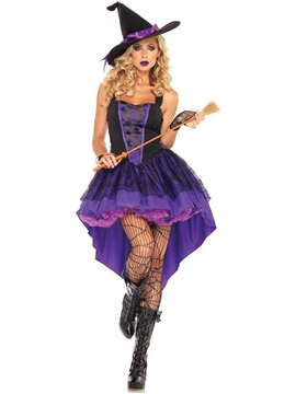 Color Block Lace Sleeveless Fall Classic Halloween Women's Costumes