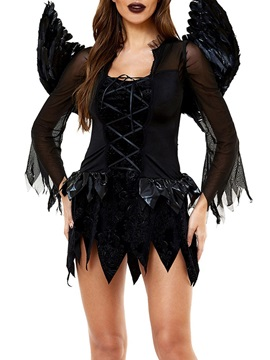 Plain Vintage Nine Points Sleeve All-Season Classic Halloween Women's Costumes