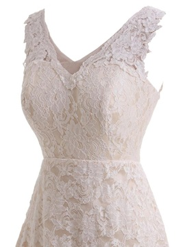 High Low Lace Beach Wedding Dress