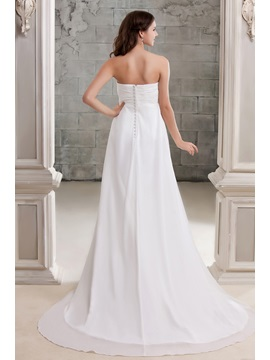 Elegant Strapless Chapel Empire Floor-length Sandra's Wedding Dress