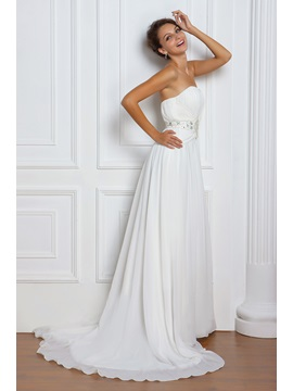 Amazing Empire Sweetheart Floor-length Court Beaded Miriama's Wedding Dress