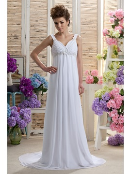 Empire Straps Floor-length Beading Daria
