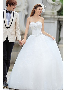 Sweetheart Beading Ball Gown Wedding Dress
