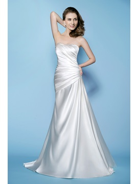 Gaceful A-Line Sweetheart Neckline Ruched Lace-up Wedding Dress