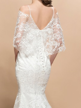 Cold Shoulder Lace Mermaid Wedding Dress