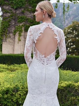 High Quality Lace Long Sleeves Mermaid Wedding Dress