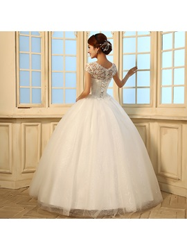 Beading Sequins Lace Ball Gown Wedding Dress