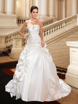 Ball Gown Rhinestone Pick-ups Wedding Dress