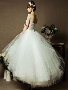 Ankle-Length Ball Gown Sweetheart Designer Wedding Dress