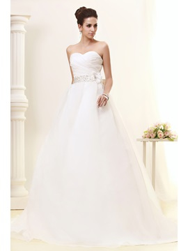 Luxurious Ball Gown Sweetheart Court Train Bowknot Taline's Wedding Dress