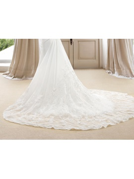 Superior Beaded Sweetheart Appliques Mermaid Wedding Dress