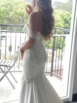 Lace Appliques Beading Mermaid Wedding Dress 2019