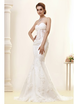 Gorgeous Sweetheart Lace Trumpet/Mermaid Angerlika's Wedding Dress