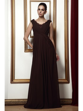 Buy Enchanting Lace Trimmed A-Line Floor-length Scoop Taline's Bridesmaid Dress