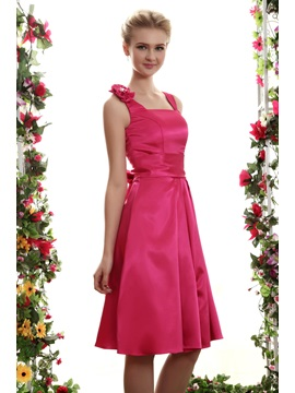 A line Square Neckline Mini Yana's Bridesmaid Dress