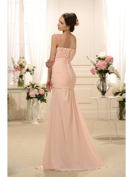 Elegant Pleats Split-front Sweetheart Neckline Trumpet/Mermaid Floor-Length Bridesmaid Dress