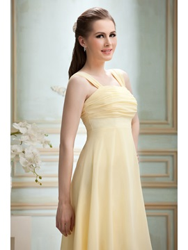 Cheap Ruched A-Line Knee-length Square Neckline Nadya's Bridesmaid/Homecoming Dress