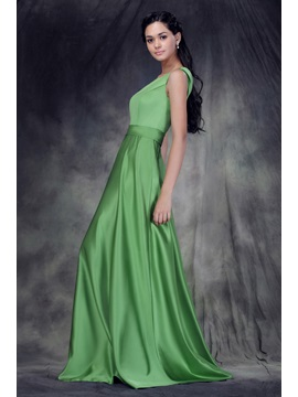 Designer A-Line Floor-Length Jewel Neckline Anderae's Bridesmaid Dress