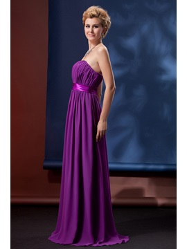 Charming Pleats A-Line Strapless Floor-Length Alina's Bridesmaid Dress