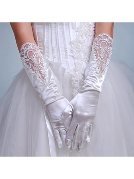 Elegant Half Length Beadings Bridal Gloves
