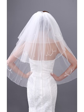 Luxury Three Layers Single-wire Yarn Wedding Brail Veil