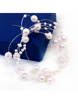 Pearl String Hair Flower