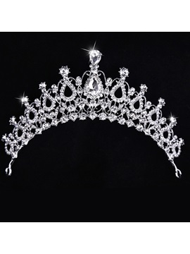 Charming Rhinestone Pattern Shiny Wedding Tiara / Crown