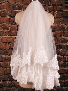 Lace Edge Elbow Length Bridal Veil