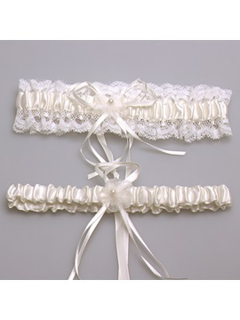 Fancy Satin Lace Wedding Garter