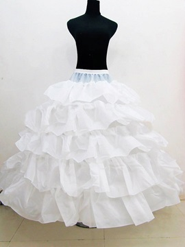 Ball Gown 5 Layers Crinoline Wedding Petticoats & modern Wedding Accessories