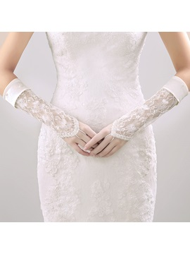 Lace Fingerless Wedding Gloves
