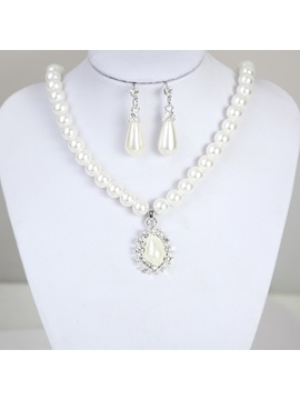 Necklace Pearl Inlaid Korean Jewelry Sets (Wedding)