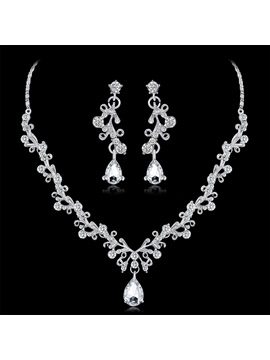 Necklace European Gemmed Jewelry Sets (Wedding) & modest Wedding Accessories