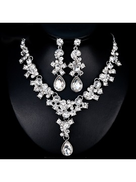 Gemmed Earrings European Jewelry Sets (Wedding)
