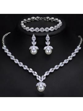 Korean Bracelet Pearl Inlaid Jewelry Sets (Wedding)