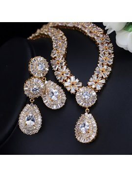 Gemmed European Earrings Jewelry Sets (Wedding)