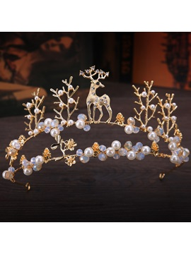 Pearl Inlaid Tiara Korean Hair Accessories (Wedding)