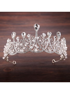 Korean Gemmed Crown Hair Accessories (Wedding)
