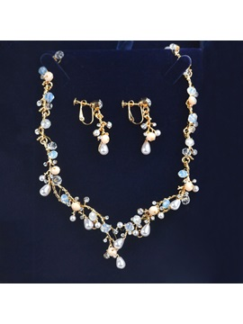 Water Drop Earrings Korean Jewelry Sets (Wedding)