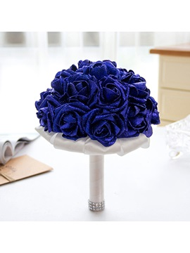 Satin European Rose Beading Wedding Decorating Flowers