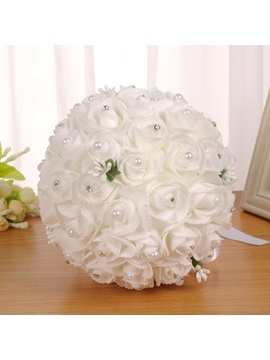 Rose Pearls European Wedding Bouquet