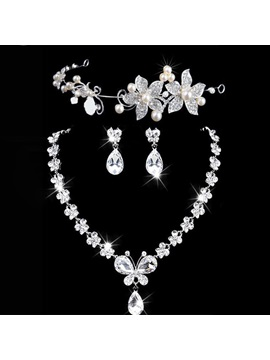 Diamante Korean Earrings Jewelry Sets (Wedding)