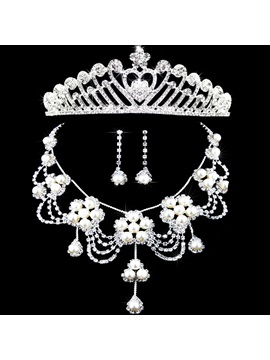 Floral Earrings Korean Jewelry Sets (Wedding)