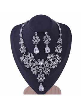 Korean E-Plating Floral Jewelry Sets (Wedding)
