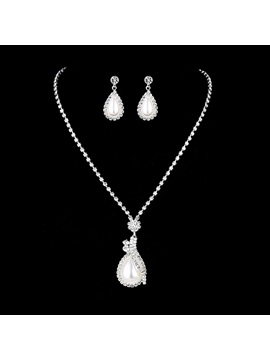 E-Plating Water Drop Earrings Jewelry Sets (Wedding)